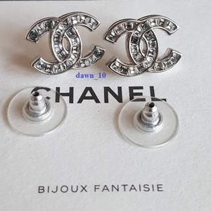 Chanel Baquette Swarovski Crystal CC earrings